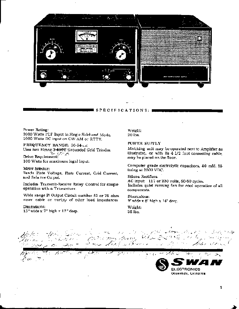 swan 500 transceiver service manual download schematics eeprom rh elektrotanya com Swan 500 Transceiver Swan 500Cx Manual