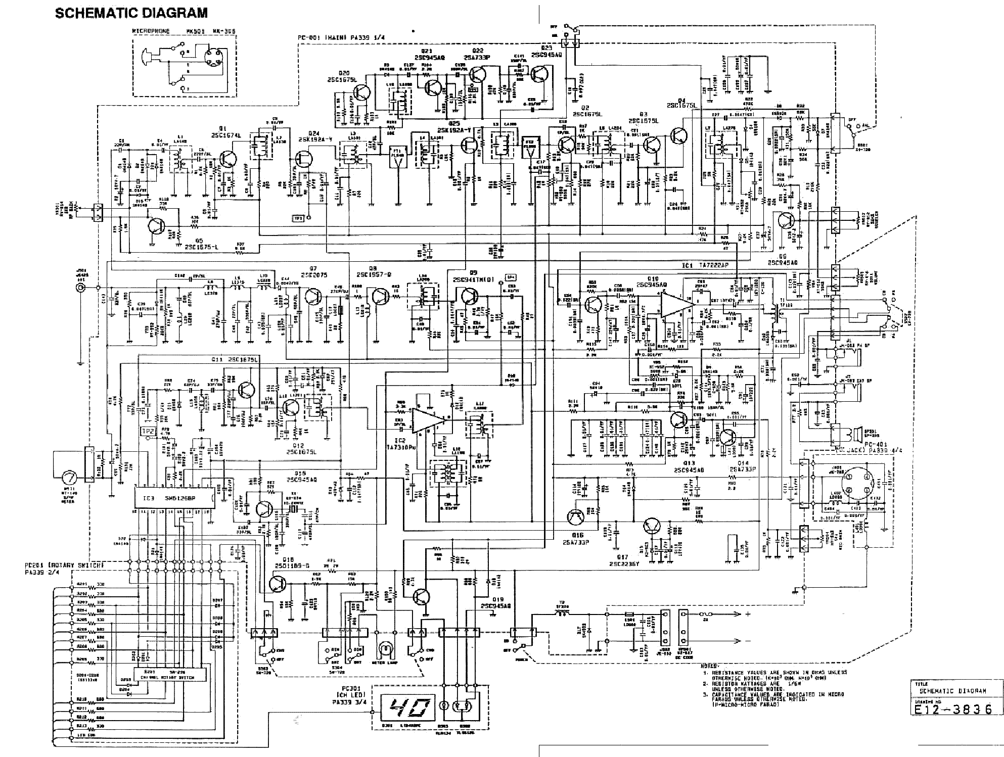 here is the schematic     http://elektrotanya com/previews/45612216/23432455/transceiver/uniden /uniden_pc66 pdf_1 png