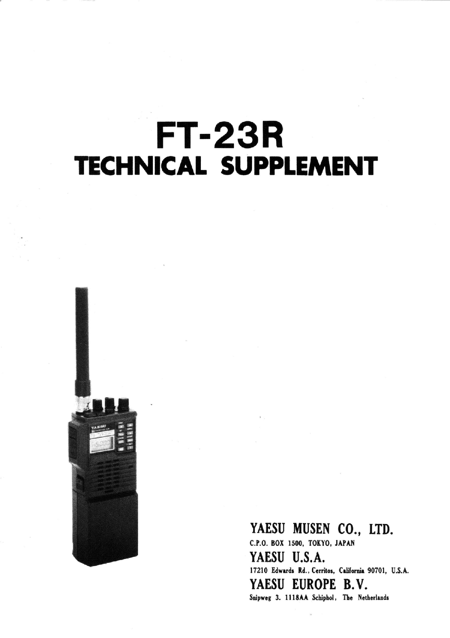 YAESU FT-23 service manual (1st page)