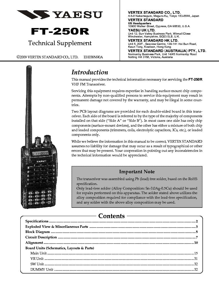 Yaesu VX-6R Manual (PDF) - PWCARES