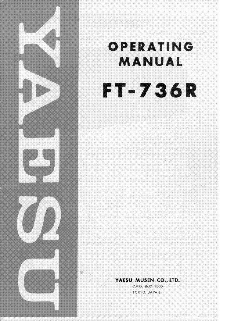 yaesu ft 736r service manual