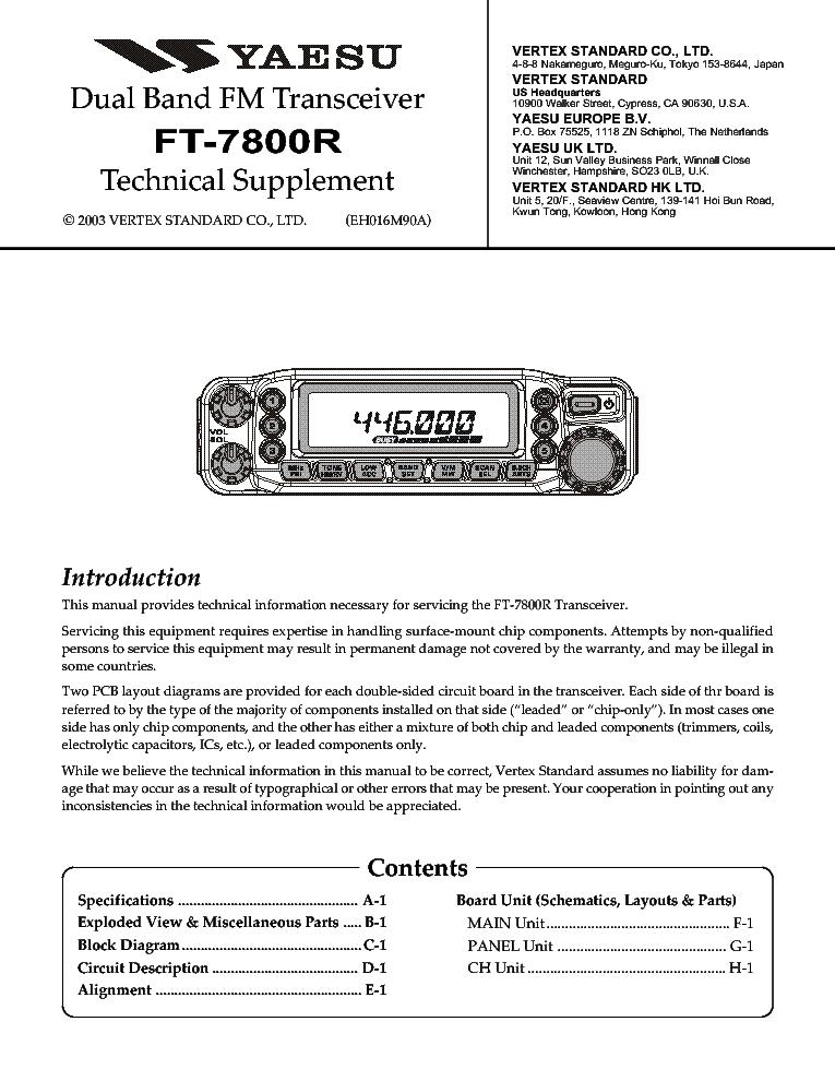 Yaesu FT-8000R Instruction Manual