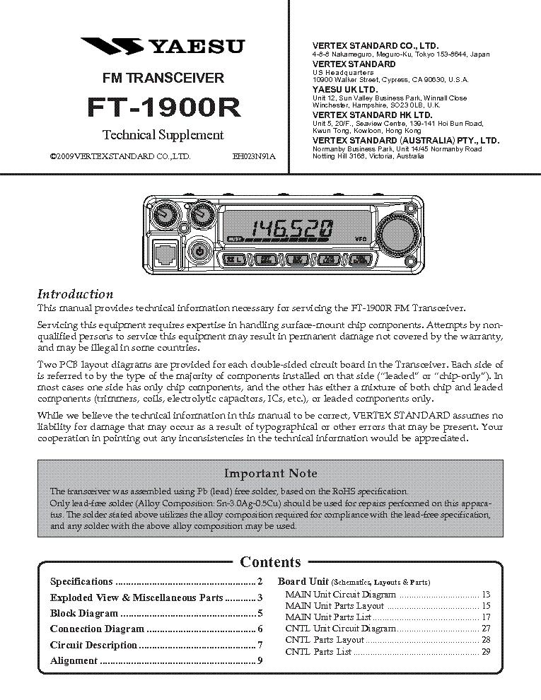 Инструкция Ft-1900r img-1