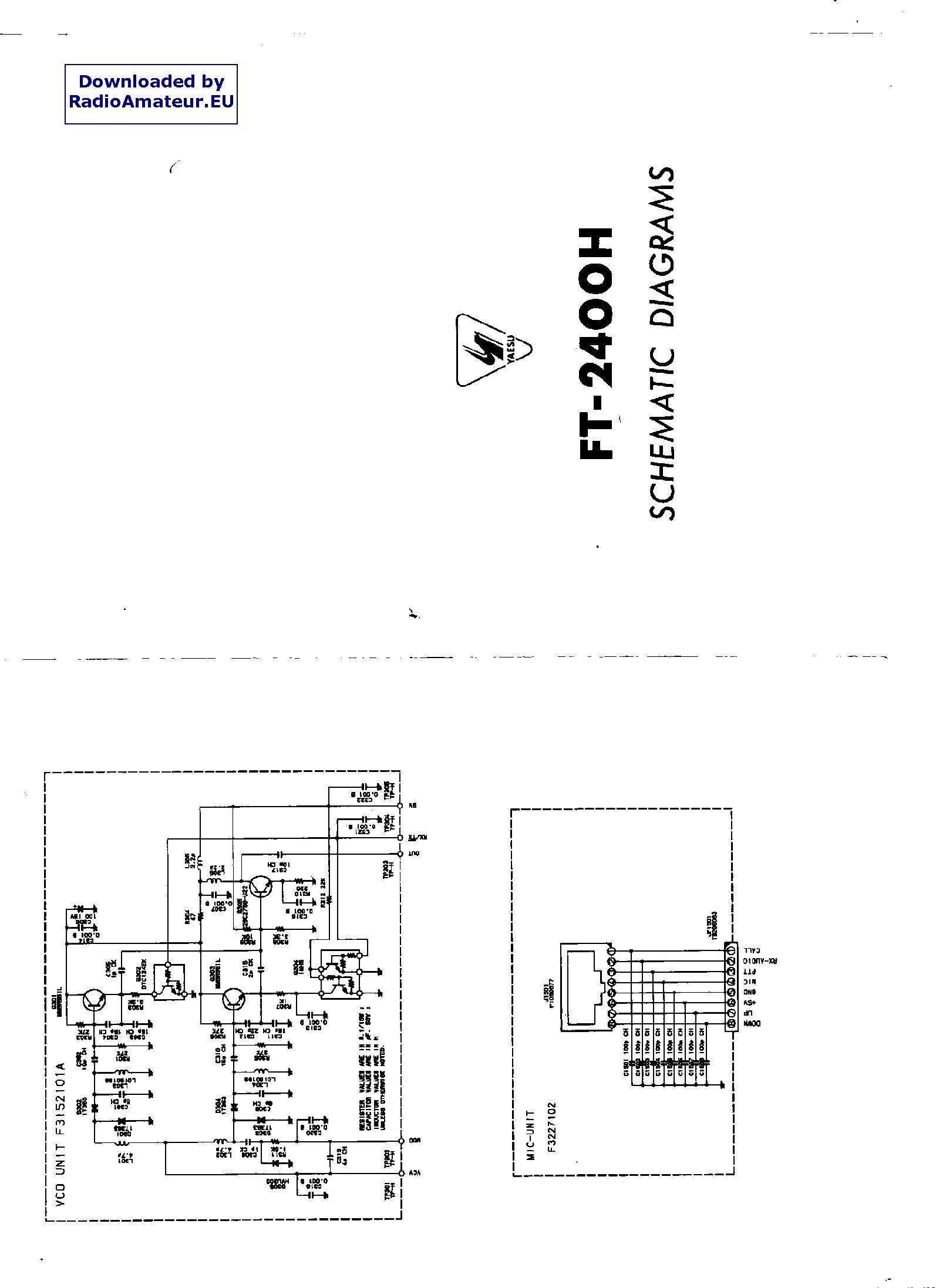 YAESU FT2400H service manual (1st page)