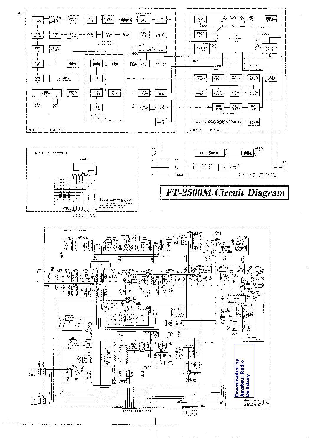Yaesu Ft2500m Service Manual Download  Schematics  Eeprom