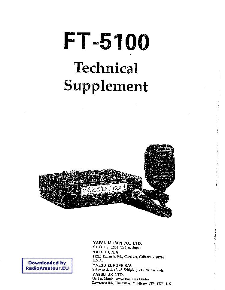yaesu ft5100 service manual download schematics eeprom repair rh elektrotanya com Yaesu FT 5100 User Manual Yaesu FT 5100 Mods