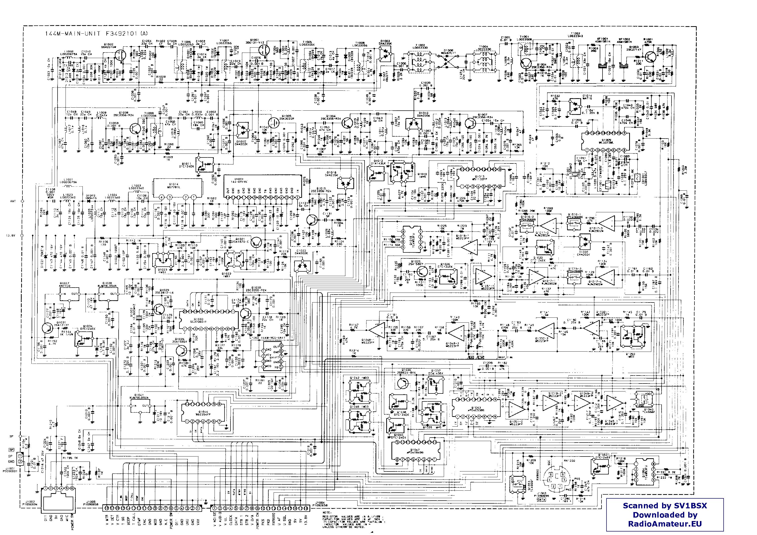 Yaesu Ft8500 Service Manual Download  Schematics  Eeprom