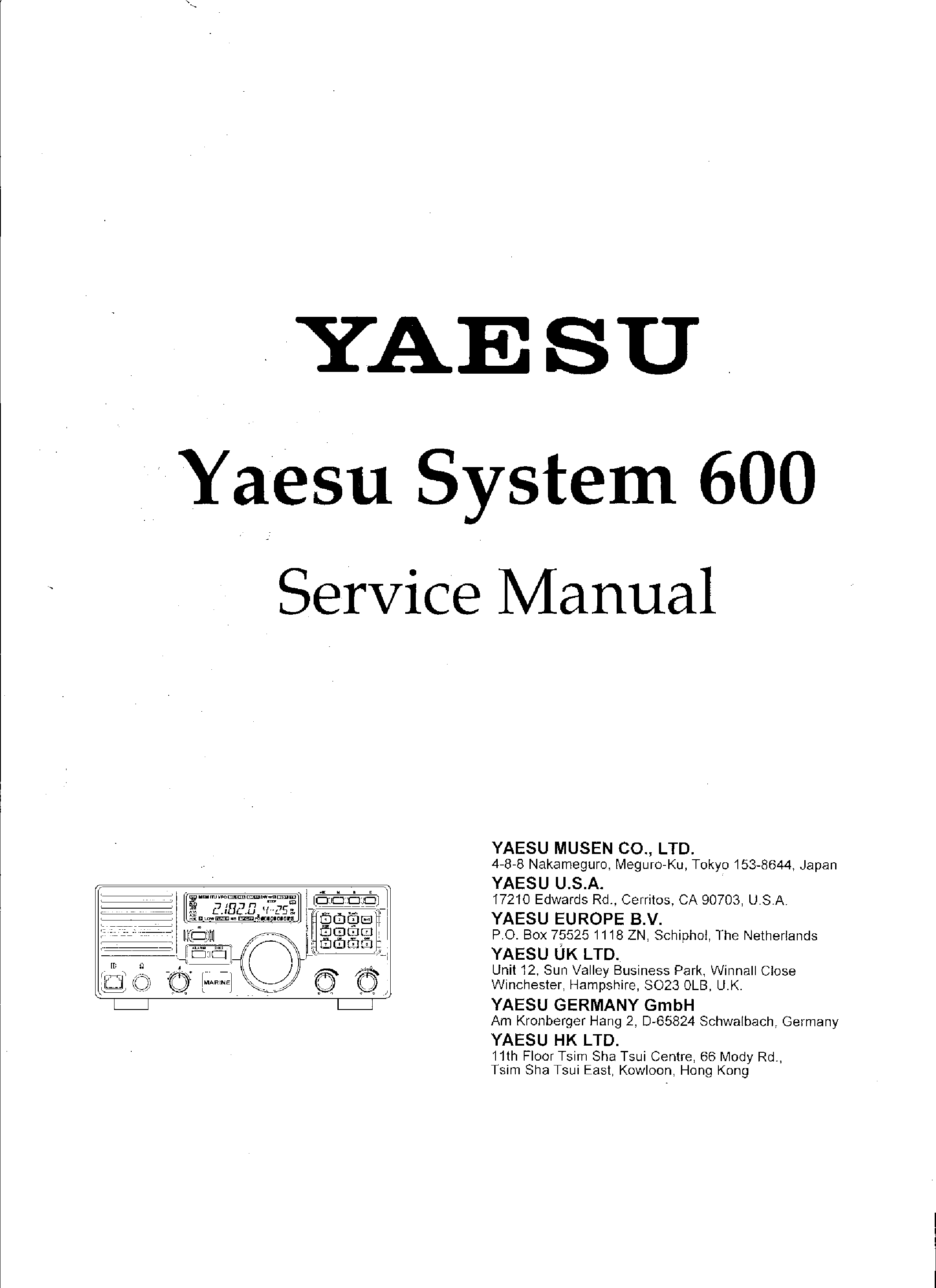 yaesu system 600 sm service manual download schematics eeprom rh elektrotanya com Yaesu FT 840 Specifications Yaesu FT 6