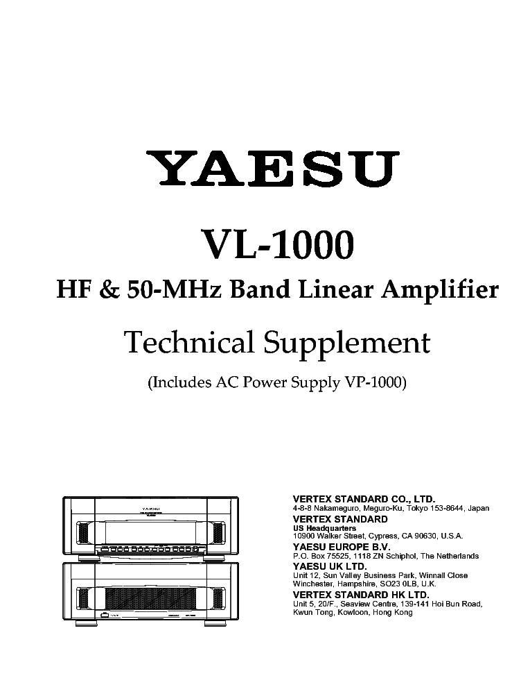 yaesu vertex vl 1000 vp 1000 sm service manual download schematics rh elektrotanya com yaesu vx 2 manual pdf