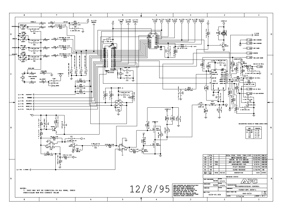 apc smart ups circuit diagram