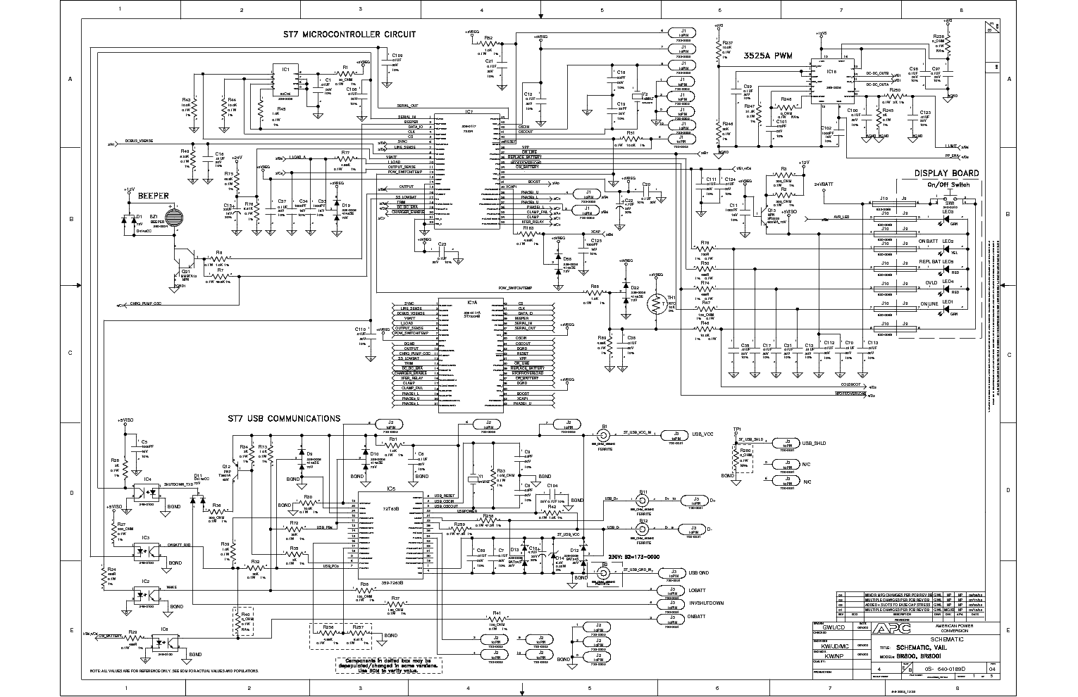 apc ups 5000xl diagram