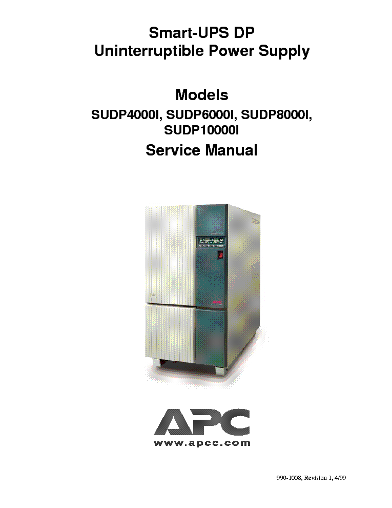Apc 2200 ups manual