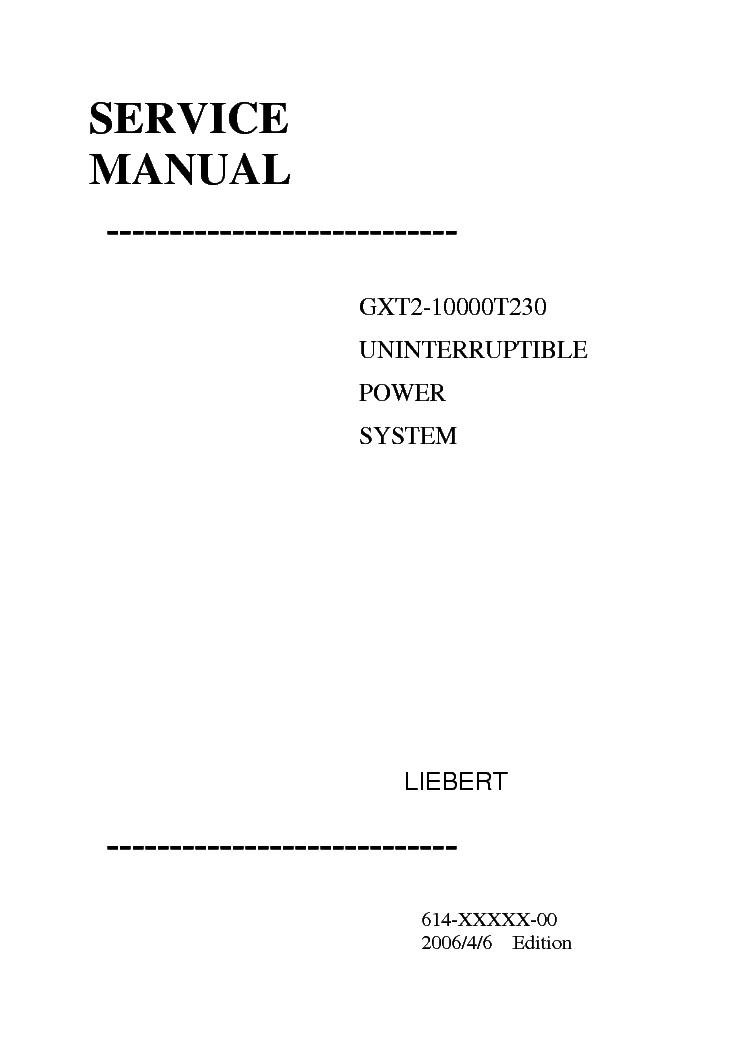 Liebert gxt3 manual.