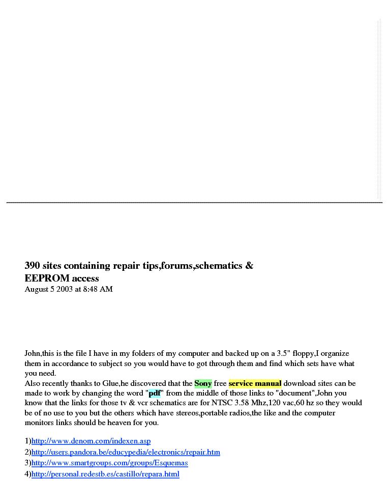 390 Schematic Download Sites Service Manual Download  Schematics  Eeprom  Repair Info For