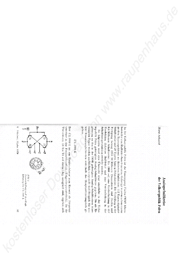 ANALOG IC POLEN 1979 KATALOGUS service manual (1st page)