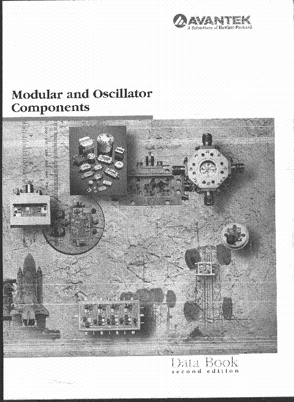 AVANTEK MODULAR AND OSCILLATOR COMPONENTS 1990 CATALOGUE service manual (1st page)