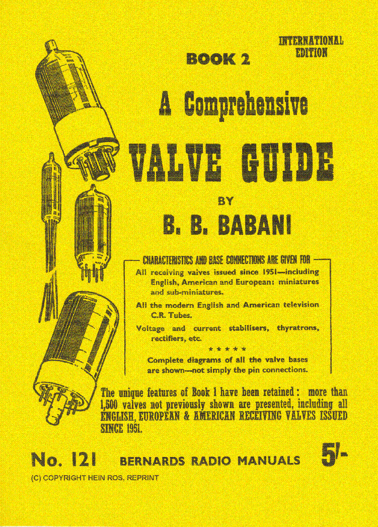 BABANI COMPREHENSIVE RADIO VALVE GUIDE2 1951 service manual (1st page)