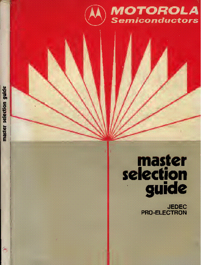 MOTOROLA MASTER SELECTION GUIDE 1975 service manual (1st page)