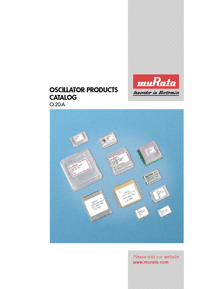 MURATA OSCILLATOR-PRODUCTS-CATALOG service manual (1st page)