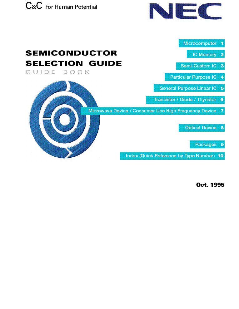 NEC SEMICONDUCTOR SELECTION GUIDE 1995 service manual (1st page)