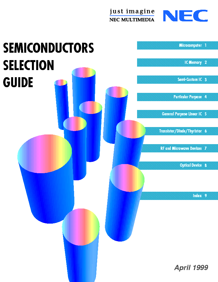 NEC SEMICONDUCTORS-SELECTION GUIDE 1999 service manual (1st page)