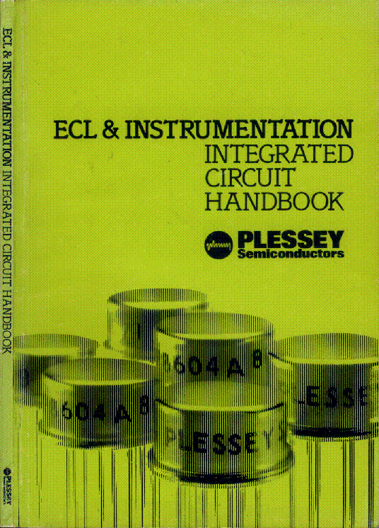 PLESSEY ECL INSTRUMENTATION IC 198§ HANDBOOK service manual (1st page)