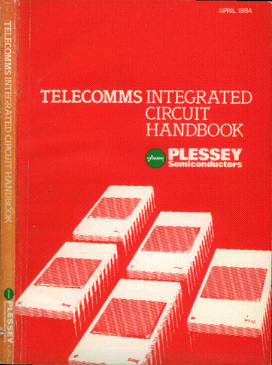PLESSEY TELECOMMS IC 1984 HANDBOOK service manual (1st page)