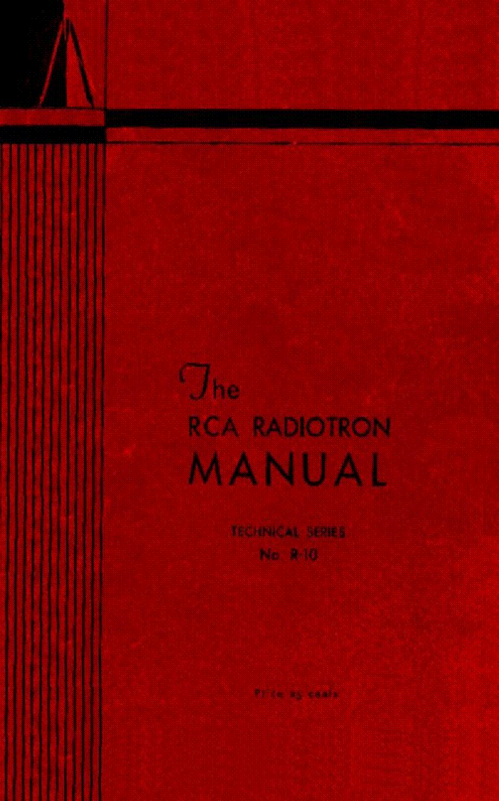 RCA TUBE MANUAL RC10 1929 service manual (1st page)