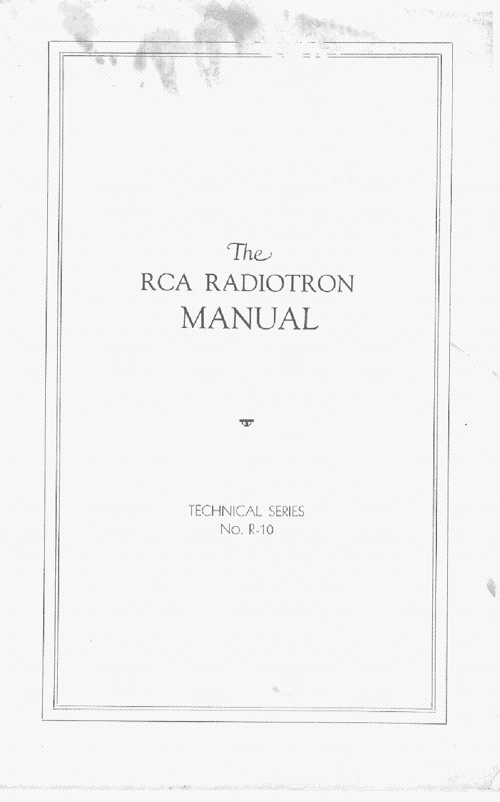RCA TUBE MANUAL RC10 1929 service manual (2nd page)