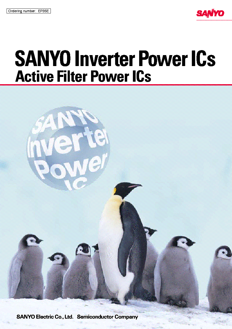 SANYO INVERTER POWER ICS service manual (1st page)