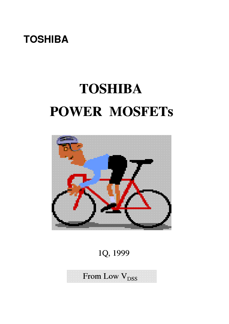 TOSHIBA POWER-MOSFET KATALOG 2 service manual (1st page)