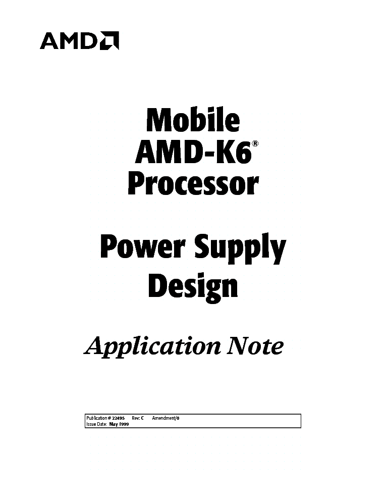 MOBILE AMD-K6 CPU POWER SUPPLY DESIGN-SCH service manual (1st page)