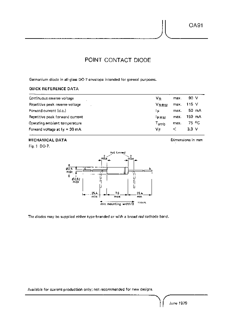 OA91 service manual (1st page)