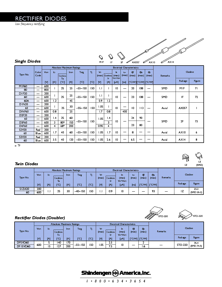 RECTIFIERDIODES service manual (1st page)