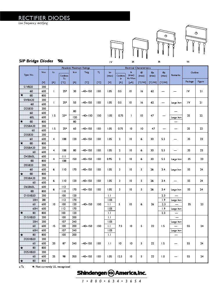 RECTIFIERDIODES service manual (2nd page)