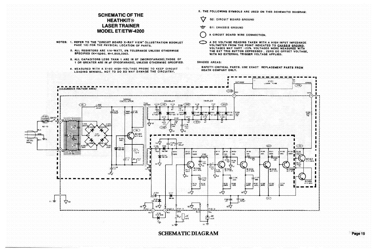 Heathkit Et 3200 Digital Design Experimenter Sch Service Manual Reading Schematic Diagram