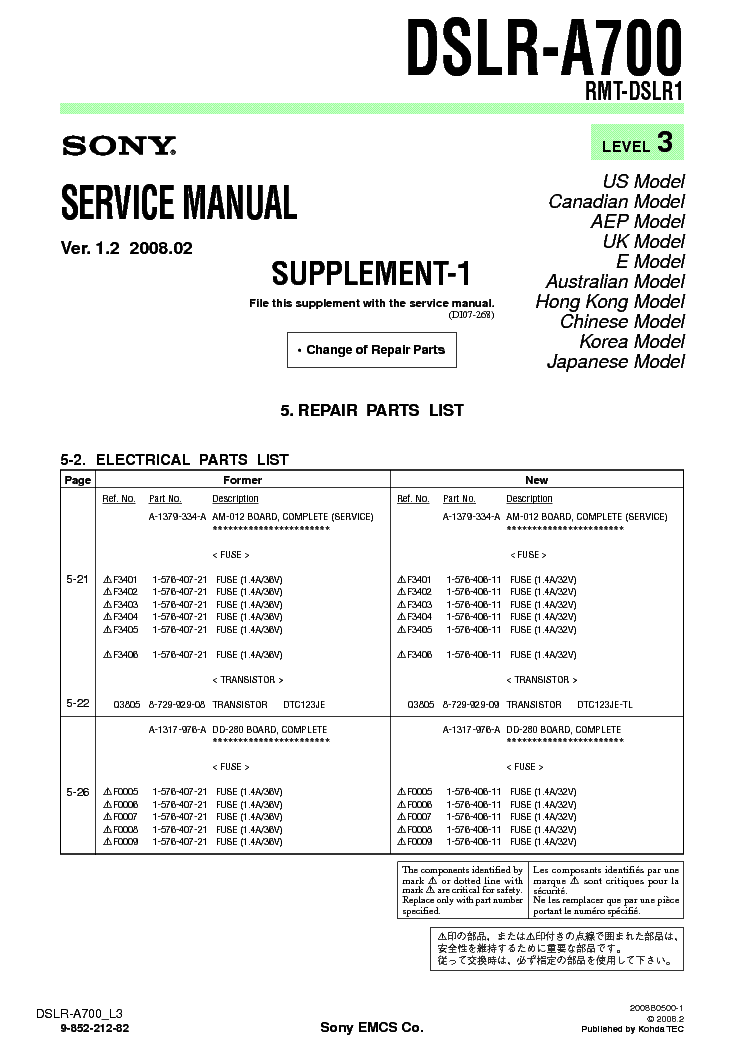 Sony A700 Manual Pdf