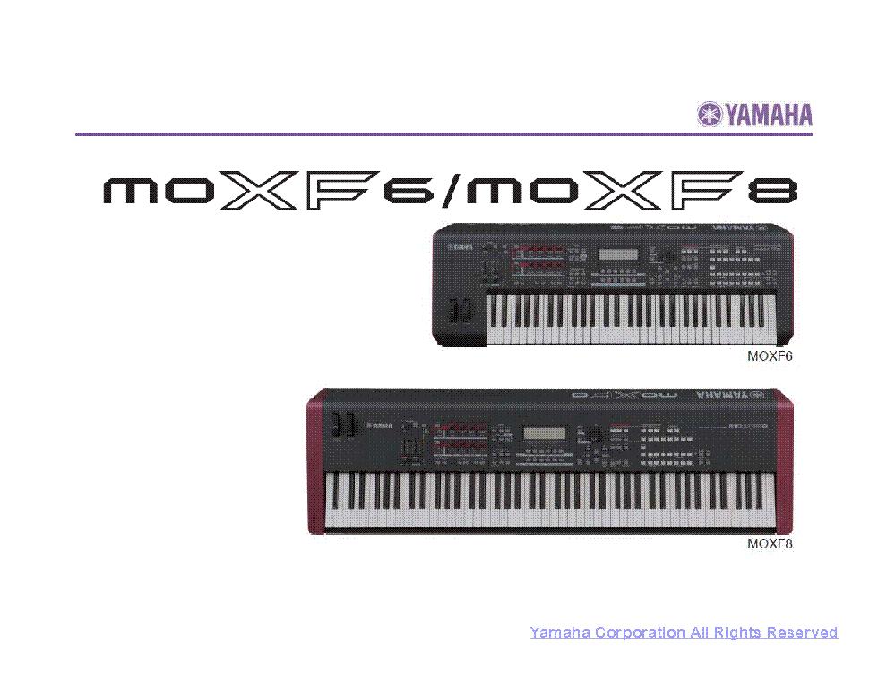 yamaha moxf6 moxf8 service manual download schematics
