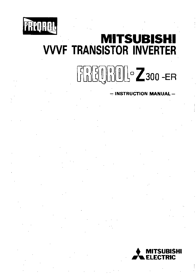 mitsubishi vvvf transistor inverter freqrolz300er rem frz300er service manual download