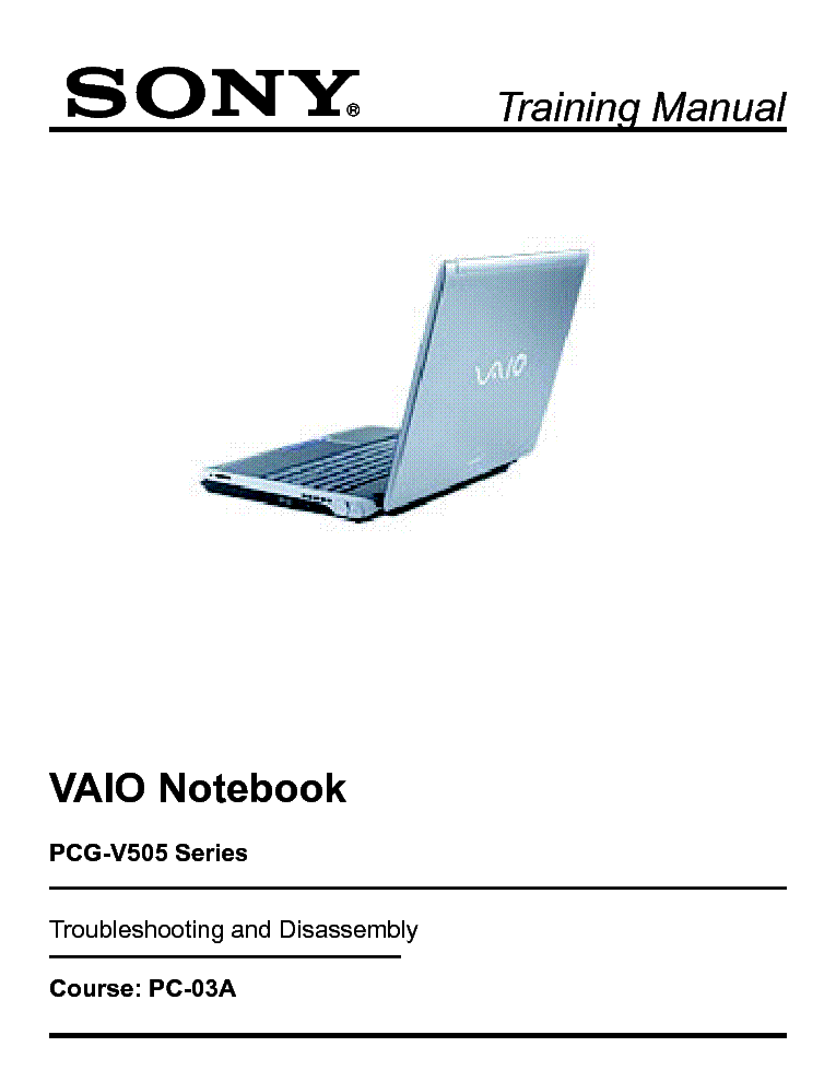 sony vaio pcg v505 training manual service manual download rh elektrotanya com sony vaio pcg-3a1m service manual sony vaio pcg-71811m service manual