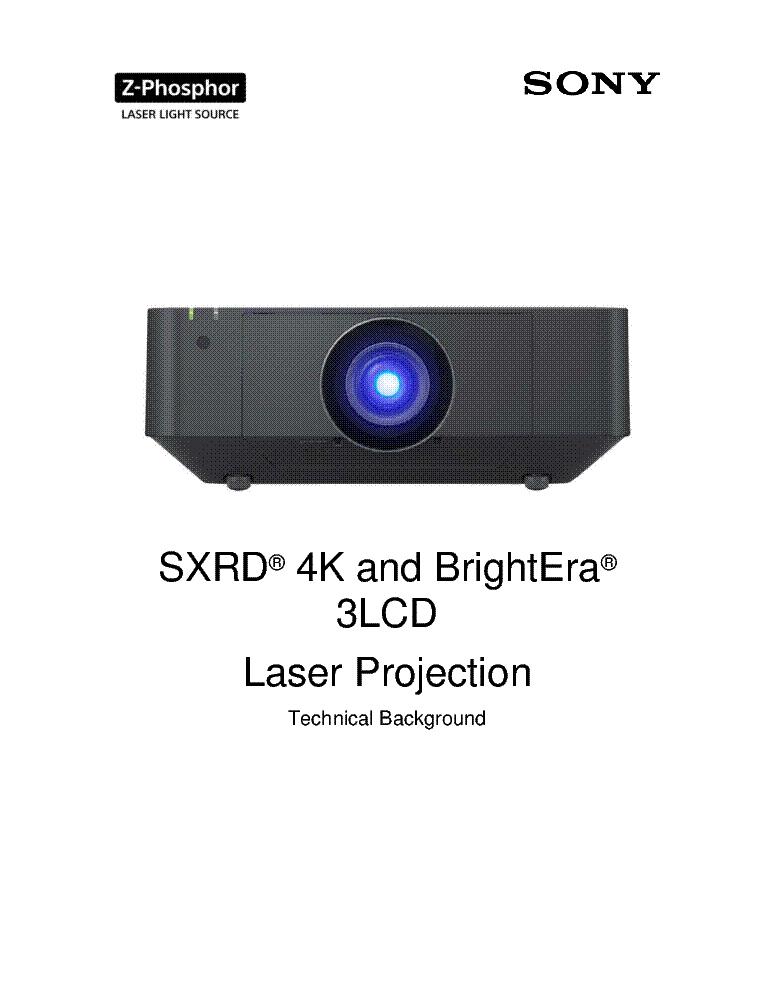 sony sxrd 4k and brightera 3lcd laser projection technical rh elektrotanya com sony sxrd 3d projector review sony 4k sxrd projector review