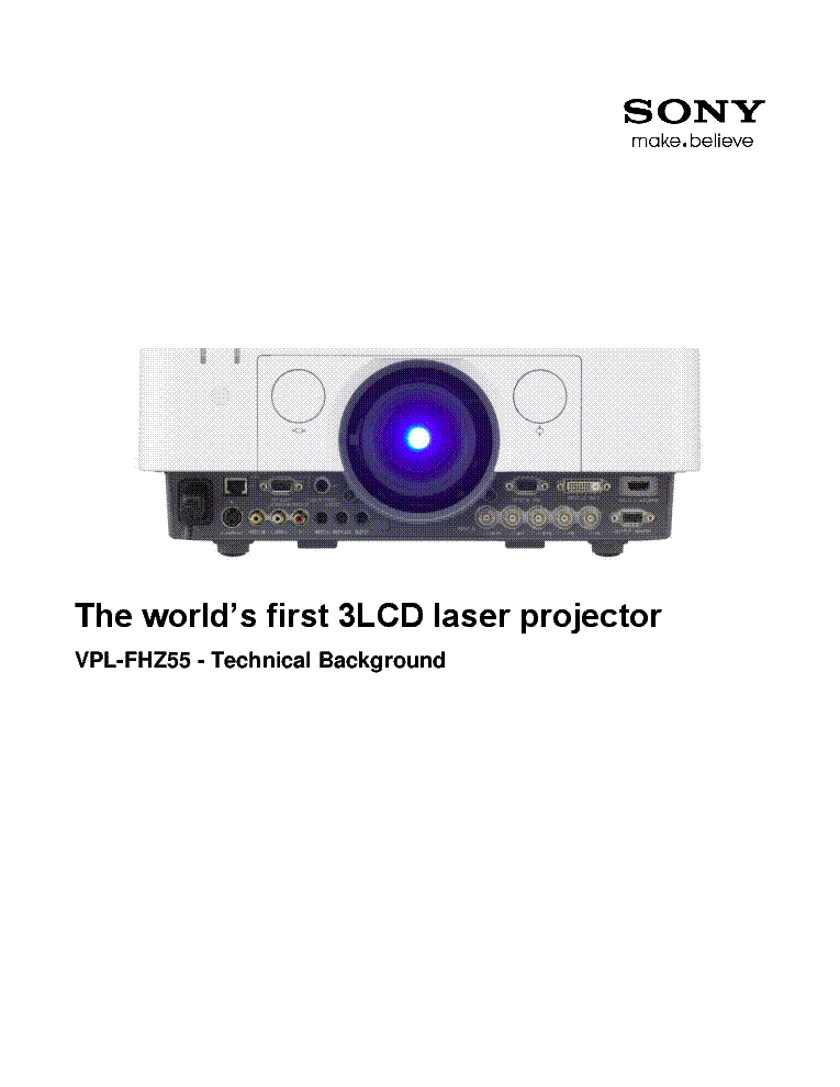 sony projector manuals