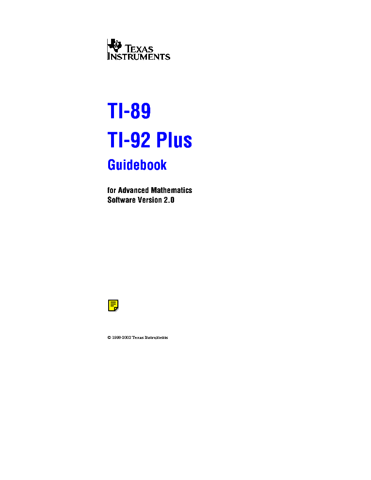 texas instruments ti 89 ti 92plus usermanual en service manual rh elektrotanya com ti-89 emulator ti 89 calculator surface 3