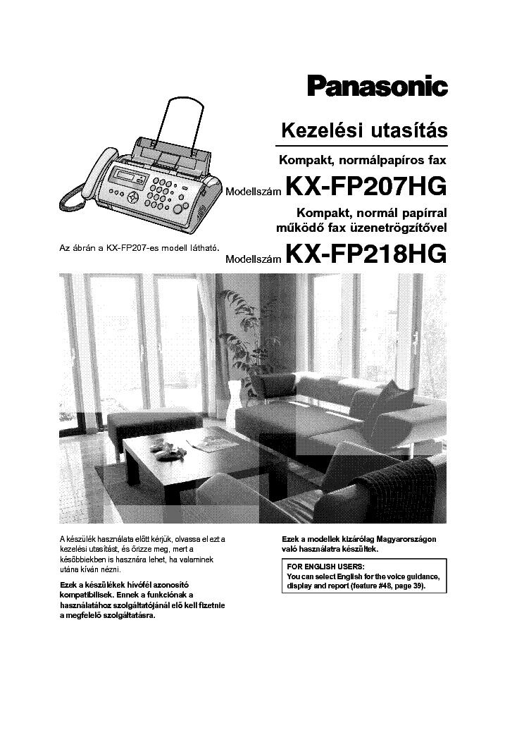 panasonic kx fp207 218hg service manual download schematics eeprom rh elektrotanya com Panasonic Kx Phone Manual Panasonic Owner's Manual