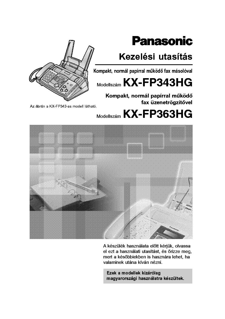 panasonic kx fp343 363hg service manual download. Black Bedroom Furniture Sets. Home Design Ideas