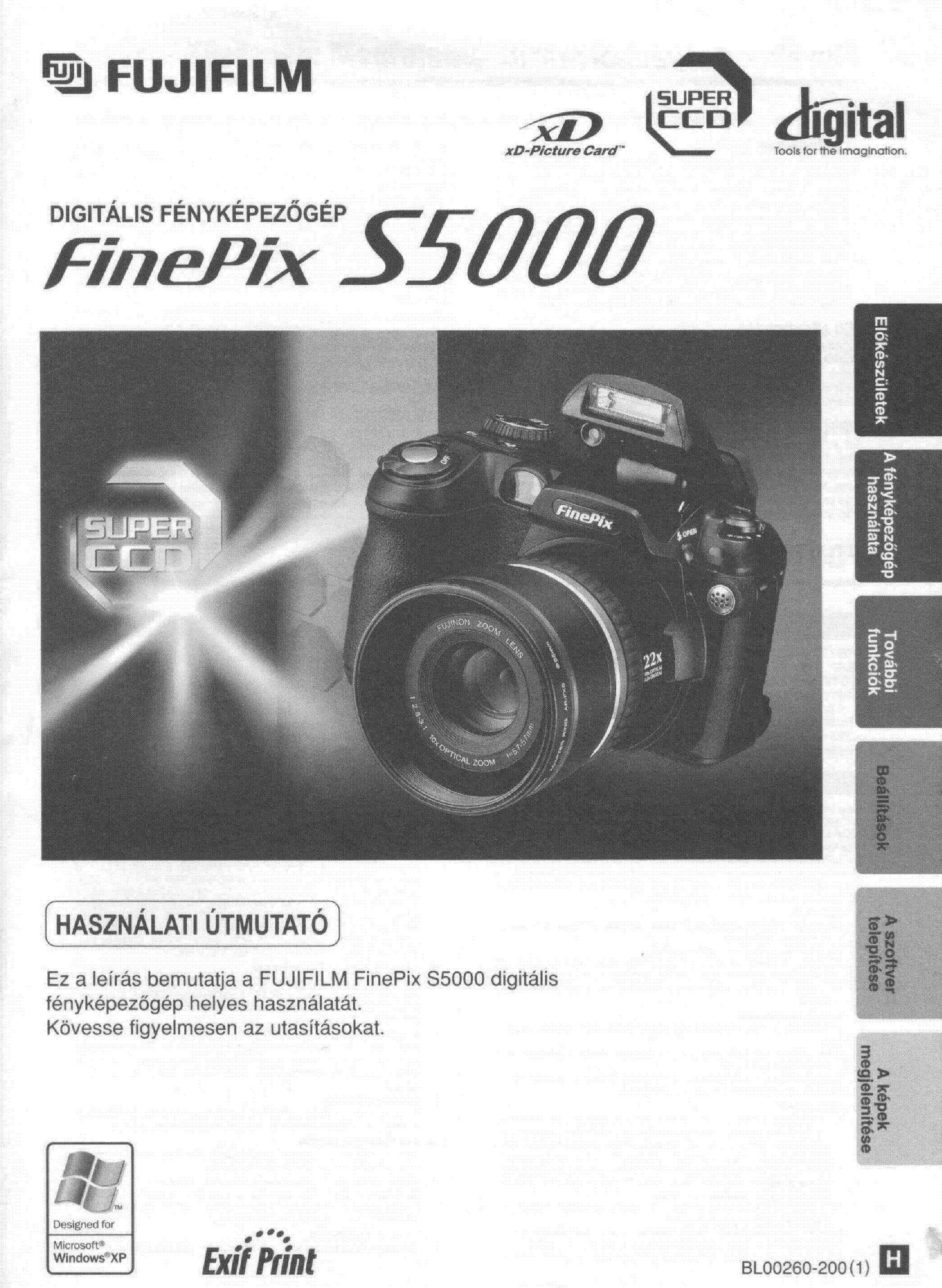 FUJIFILM FUJIFILM FINEPIX S5000 USER MANUAL service manual (1st page)