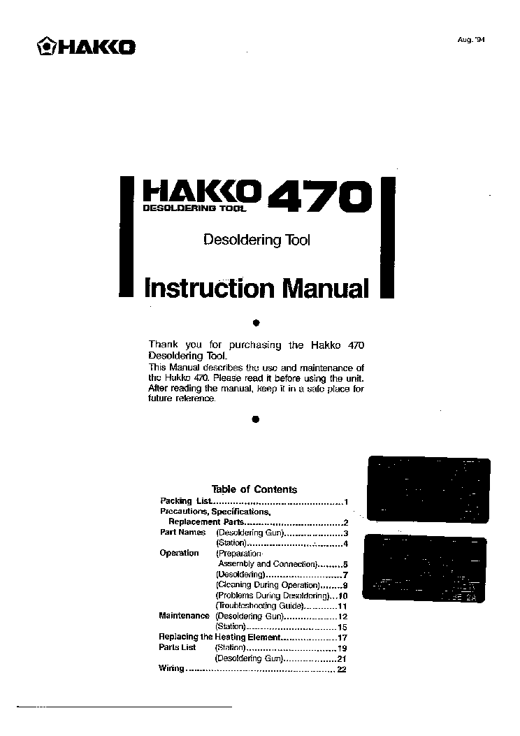 hakko 470 service manual download  schematics  eeprom