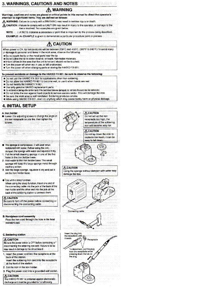 Weller Fx951 Instruction Manual Service Manual Download
