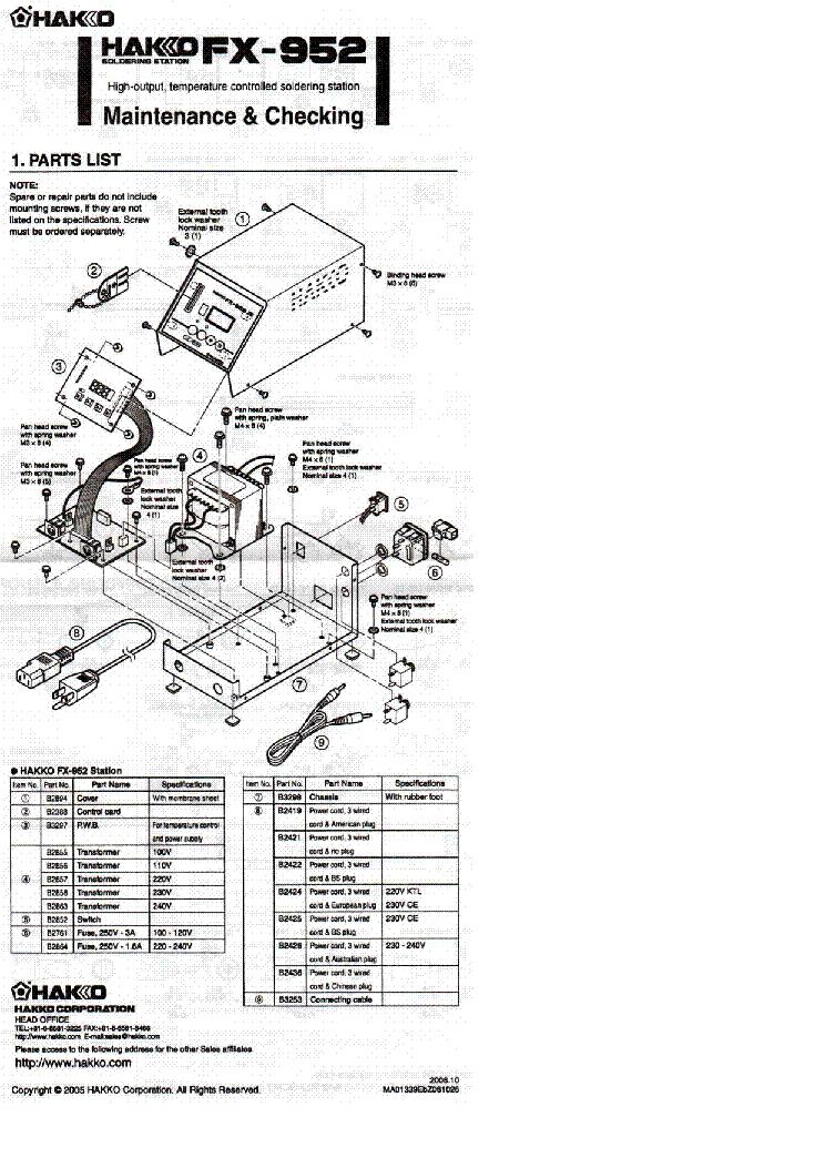 weller fx952 maintenance manual service manual download  schematics  eeprom  repair info for