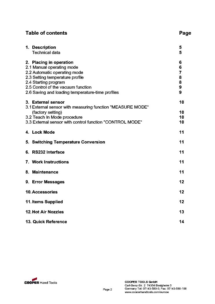 Weller Oi Wha3000p Usa2 3 Service Manual Download
